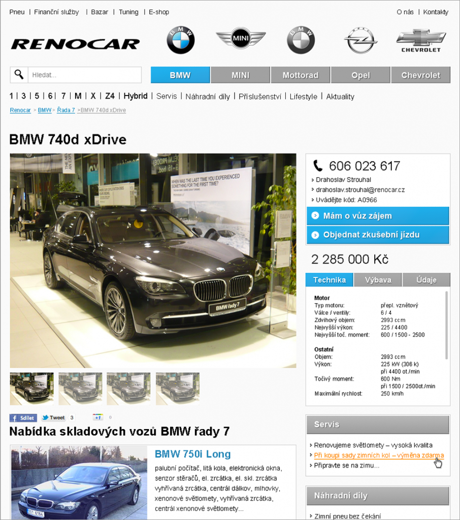 Renocar.cz - ukázka nového designu