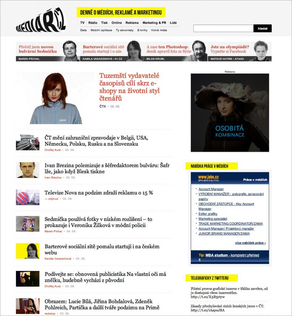 Mediar.cz - ukázka nové grafiky